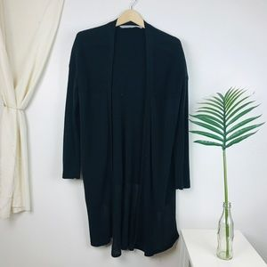 Athleta Black Kahala Open Knit Duster Cardigan